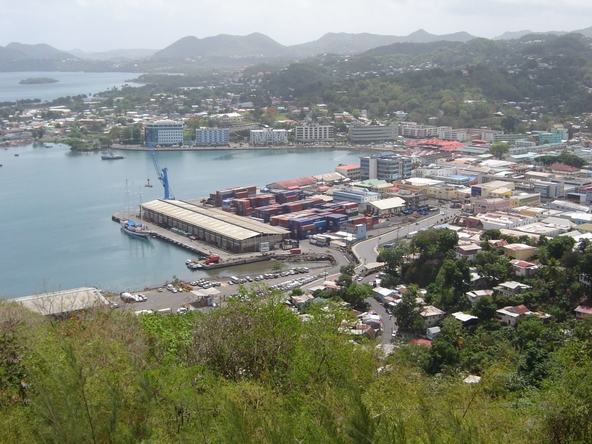 Castries, St Lucia: the main urban centres of most Caribbean countries are coastal, with much infrastructure exposed to rising sea levels and other effects of climate change.