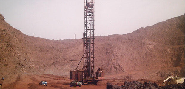 Drilling for oil in Mali.