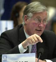 """Why are we stuck?"" asked Michael Meacher, MP"