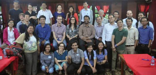"February 2015: representatives from more than 20 South East Asian civil society organisations gather for a workshop on investment chains. The workshop, entitled ""Follow the Money"", was organised by IIED and IDI in Phnom Penh, Cambodia (Photo: Holly Jonas)"