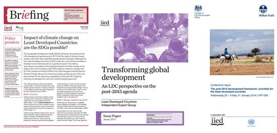 The Independent Expert Group has produced a series of publications (Image: IIED)