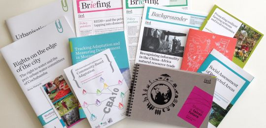 A selection of IIED publications (Photo: IIED)