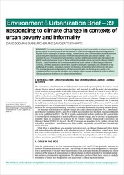Responding to climate change in contexts of urban poverty and informality