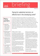 Paying for watershed services: an effective tool in the developing world