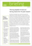 Planning adaptation for food and farming: lessons from 40 years' research