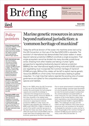 cover Marine genetic resources in areas beyond national jurisdiction: a 'common heritage of mankind'