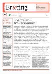 Biodiversity loss, development crisis?