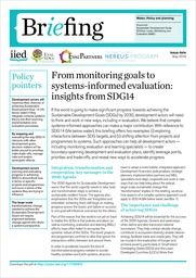 From monitoring goals to systems-informed evaluation: insights from SDG14