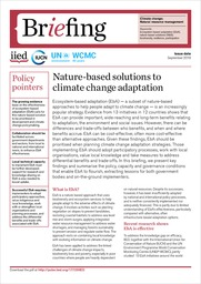 Nature-based solutions to climate change adaptation
