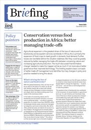 Conservation versus food production in Africa: better managing trade-offs