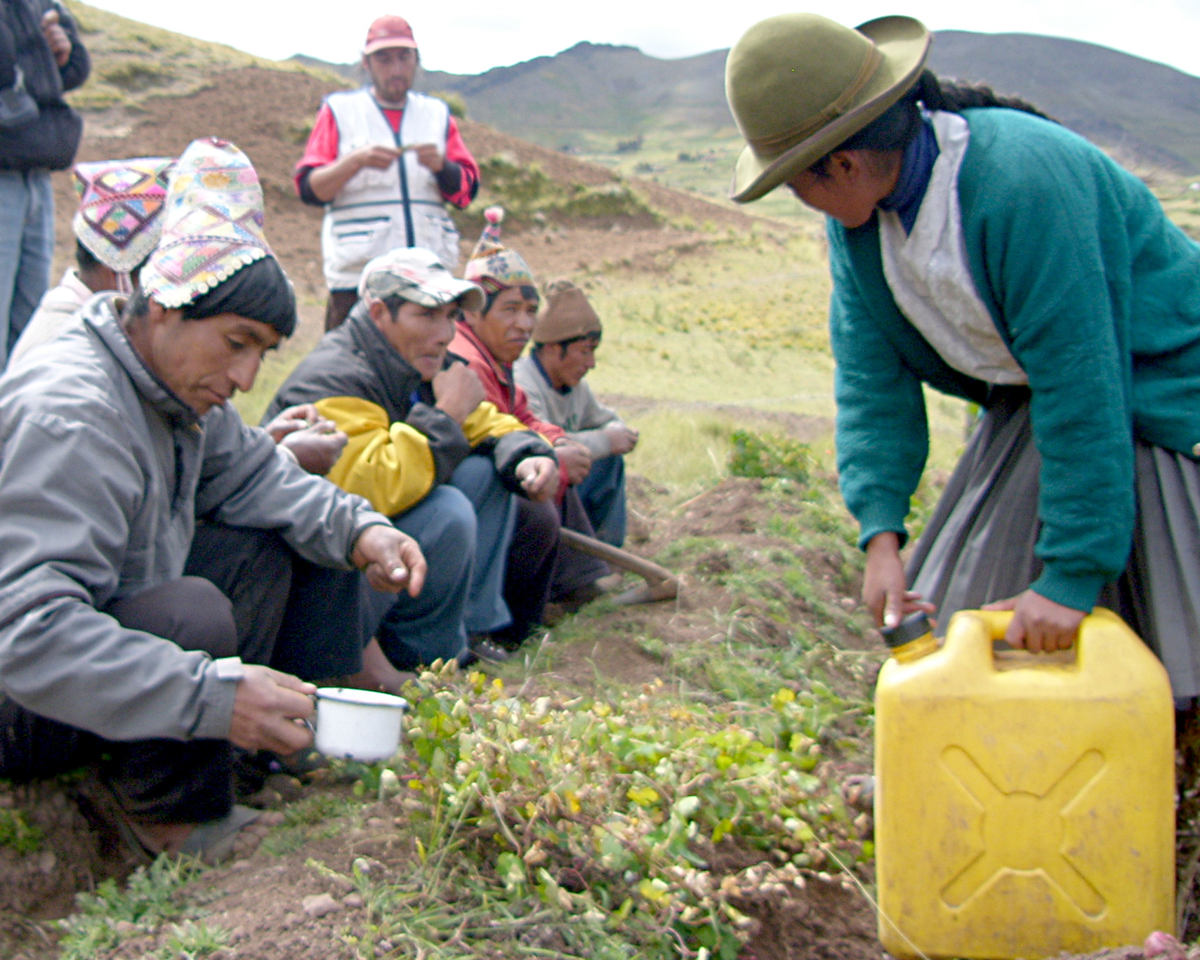 A traditional ceremony before harvest in the Peru Potato Park (Photo: Khanh Tran-Thanh/IIED)