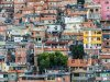 Hundreds of densely packed houses climb into the mountains