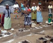 Women using the Changu Changu Moto Fuel-Efficient Clean Cookstove, Malawi, Africa (Photo: Ripple Africa)