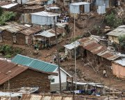 A road in Kibera informal settlement