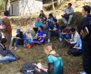 Partnership and participation are central to IIED's work: this exchange visit organised with our partners in Nepal allowed community foresters to share their experiences with civil society activists from the Lao PDR. (Photo: IIED)