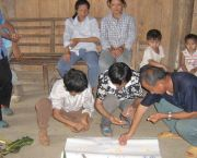 Farmers analyse local maize varieties in the Karst mountains, Southwest China. IIED's work includes participatory plant breeding and community supported agriculture (Photo: IIED)
