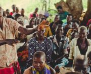 A woman explains the importance of guarding against future encroachments on her community's common land in Northern Uganda (Photo: LEMU)