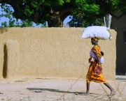 A woman carrying groceries in the village of Bouwéré, Mali. Assessments looked at how women experienced resilience to climate disruption (Photo: P.Casier/CGIAR, Creative Commons via Flickr)