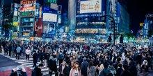 Crowds of pedestrians in Tokyo