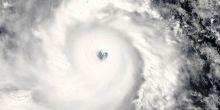 Typhoon Haiyan approaching the Philippines on 7 November 2013. Credit: NASA