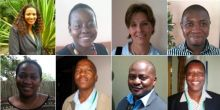 Members of the Mainstreaming Biodiversity and Development Africa leaders' group. From left to right: Kauna Schroder, Marie-May Jeremie, Juliane Zeidler, Samson Mulonga, Dineo D Gaborekwe, Baboloki Autlwetse, Felix Monggae, Chipanqura Chirara.