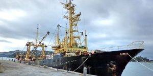 A deep-sea fishing trawler