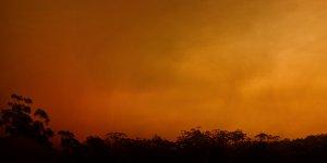 An orange sky