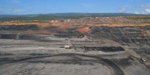 An open pit mine