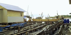 A fishing settlement in Bandar Lampung city, Indonesia. (Photo: Diane Archer/IIED)