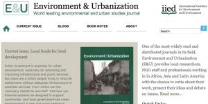 Environment & Urbanization screenshot