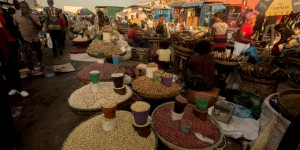 Food market in Lusaka, Zambia.