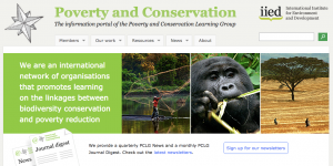 Poverty and Conservation Learning Group screenshot