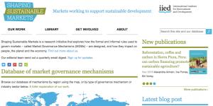 Shaping Sustainable Markets screenshot