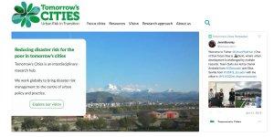 Screenshot of Tomorrow's Cities website