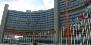 The Vienna International Centre, venue for the United Nations Commission on International Trade Law  conference (Photo: Brücke-Osteuropa [CC0], from Wikimedia Commons)