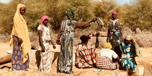 Women farmers in Dodel, in Northern Senegal, take a break by the water pump (Photo: Philippine Sutz/IIED)