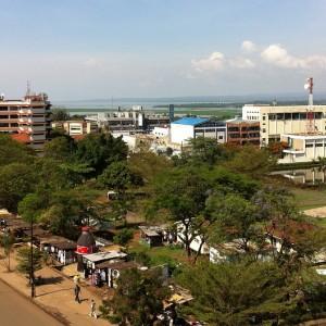 Aerial view of Kisumu, Kenya