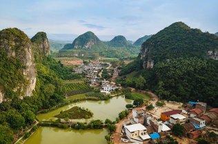 A riverside village