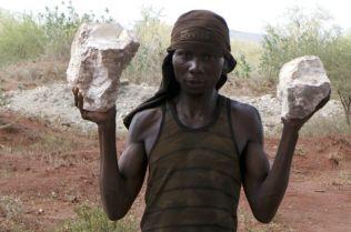 Labourer on Rehema Peter's site