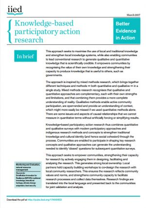 Knowledge-based participatory action research