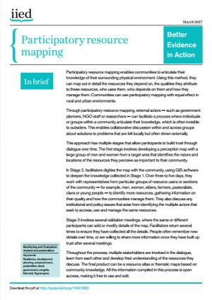 Participatory resource mapping