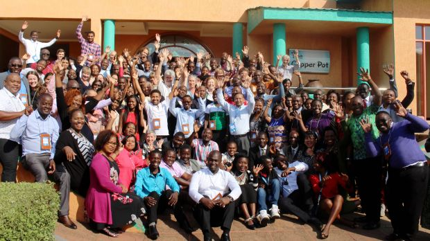 A goodbye wave from some of the participants - but the work goes on! (Photo: Teresa Corcoran/IIED)