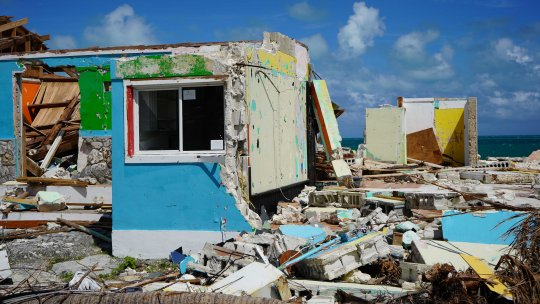 A house destroyed by hurricane