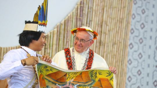 Representatives of Amazon's indigenous people met with Pope Francis (Photo: Presidencia Perú, Creative Commons via Flickr)