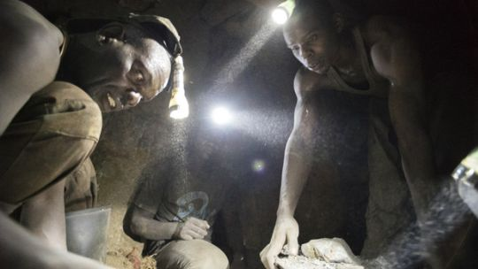 Artisanal and small-scale miners at work at Geita gold mine, in Tanzania. Miners were interviewed about their experiences and thoughts about what needs to change (Photo: Brian Sokol/Panos Pictures)