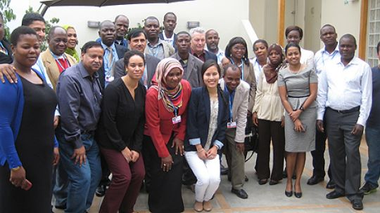 Participants of the 2014 ecbi pre-COP training workshop for LDC negotiators, Lima