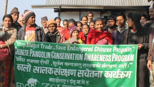 Community engagement in preventin pangolin poaching in Nepal (Photo: Ambika Prasad Khatiwada)
