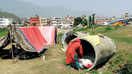 Makeshift camps for internally displaced people sprang up in Kathmandu after the severe earthquake in Nepal in April 2015. Relief workers are struggling to help displaced people find durable shelter as the country braces for the monsoon season (Photo: SIM Central and South East Asia, Creative Commons via Flickr)