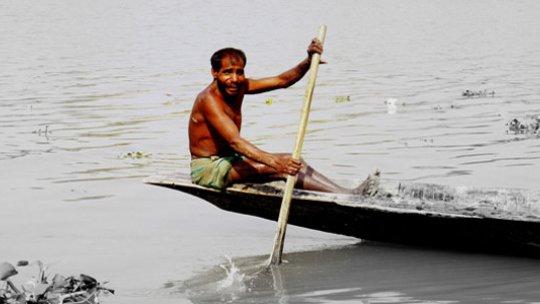 An artisanal fisherman in rural Bangladesh