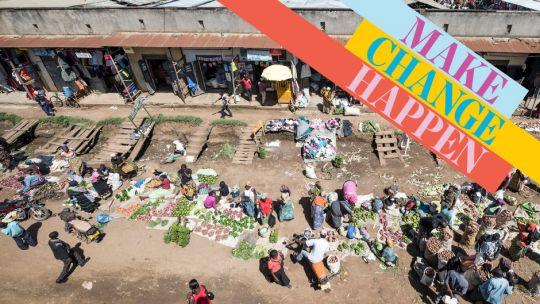 A farmer's market, Fort Portal, Uganda